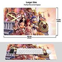 キングダムハーツ Kingdom Hearts マウスパッド 大型 超大型 光学式 レーザー式に対応 Fpsゲーム ラバー素材採用 水洗い 滑り止め 耐久性が良い 高級感 おしゃれ マウス用パッド キーボードパッド デスクマット ズ オフィス/自宅兼用(サイズ:750×400×3Mm)