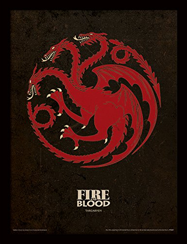Stampa incorniciata di Game of Thrones (Targaryen), 30 x 40 cm