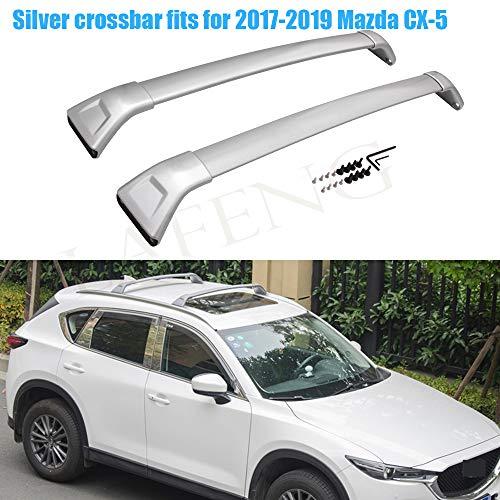 LAFENG Barra Transversal Plateada para Mazda CX-5 2017-2019, 2 Unidades, aleación de Aluminio, portaequipajes, Barras de Techo