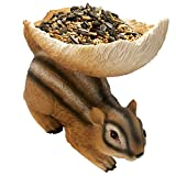 HUNTHAWK Chipmunk Outdoor Brown Squirrel Feeders,Birdfeeder fit for Outside Woodland Squirrels and Other Animals