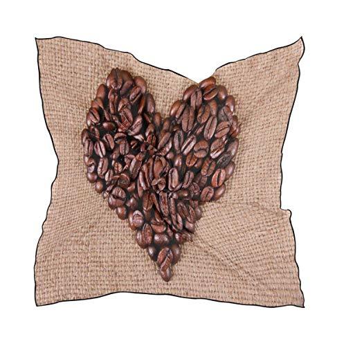 IMERIOi Damen Schal mit Zitronenbaum, quadratisch, Seide, Schal, Wickeltuch für Damen und Mädchen