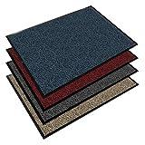 Floordirekt EVEREST Schmutzfangmatte Sky - Testsieger - Fußmatte in vielen Farben und Größen - blau-schwarz