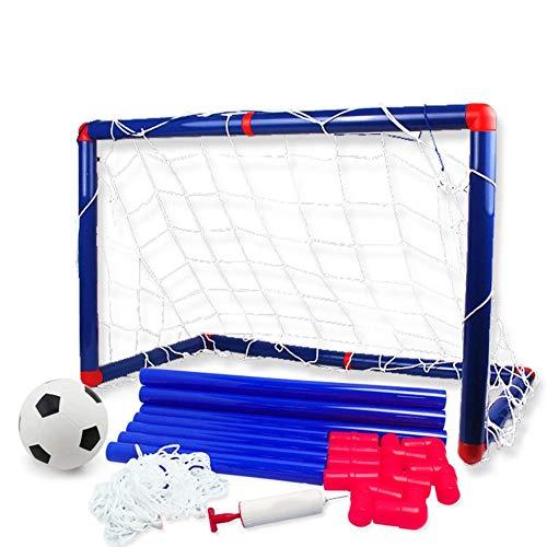 Juego de Pelota de fútbol para niños, Pelota de fútbol para Practicar al Aire Libre en Interiores con Red,Pelota y Bomba,Juego Juguete fútbol para niños,fútbol, Deportes,metas para niños,pequeños