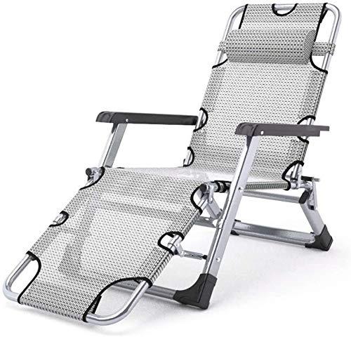 ZLGE Patio Lounger Chair Lounge Chair, Zero Gravity Multi-Purpose Folding Recliner Lazy Garden Beach Portable Chair Lunch Break Chair 178X67X27Cm