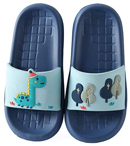 Niño Niña Slide Sandalias y chanclas Zapatos de Playa y Piscina Unisex Niños Zapatillas Baño de Estar por Casa Verano Azul Zoo 28/29 EU