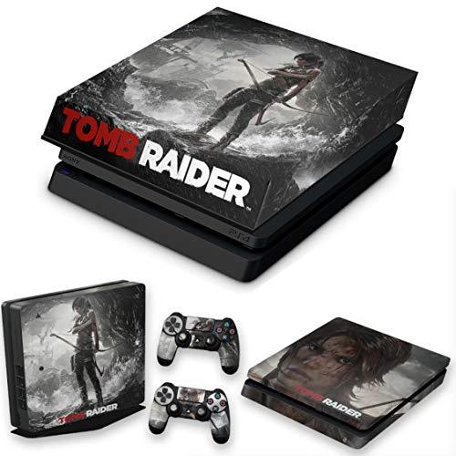 Capa Anti Poeira e Skin para PS4 Slim - Tomb Raider