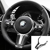 Funda de volante para BMW E90 E92 E93 F30 F34 F20 F21 F22 F32 E84 F80 F83 1 2 3 4 Series antideslizante (fibra de carbono 3D)