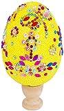 U/N Uova di Pasqua Fai-da-Te Fatte a Mano per Bambini,Giocattoli per Fabbricazione Fai-da-Te Uova Creative dipinte con Fiocchi di Neve e Fango per Feste di Pasqua Decorazioni Fai-da-Te (Giallo)