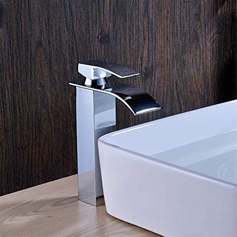 Waterfall Bathroom countertop Sink Faucet Basin Waterfall Mixer Faucet high Body