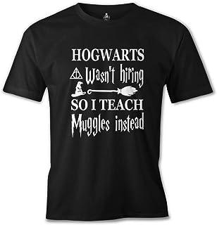 Lord Tshirt-Harry Potter - I Teach Muggles Siyah Erkek Tshirt