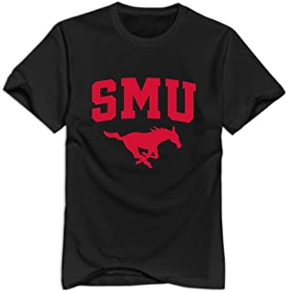 SMU Mustangs 100% Cotton T-Shirt for Man