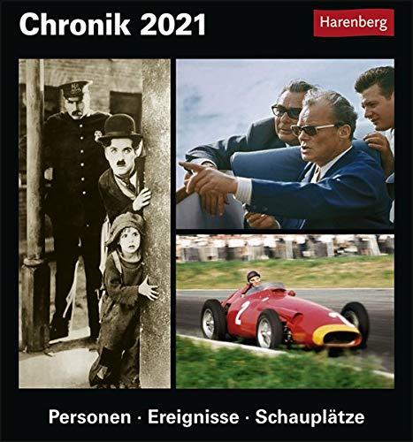 Chronik Kulturkalender 2021 - Tagesabreißkalender zum Aufstellen oder Aufhängen - Tischkalender mit Bildern und Hintergründe zu historischen Momenten - Format 15,4 x 16,5 cm