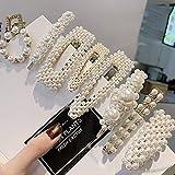 Prendedores para el cabello con perlas, 8 pcs. Perlas artificiales para el cabello. Perlas decorativas para el cabello. Accesorios para el cabello hechos a mano para niñas y mujeres,StyleSet1