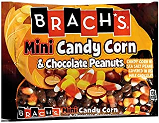 Brach's (1) bag Mini Candy Corn & Chocolate Peanuts - Candy Corn Mixed with Sea-Salted Peanuts Covered in Real Milk Chocolate - Halloween/Fall Candy - Net Wt. 10 oz