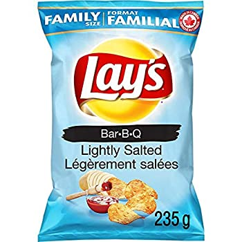 Lay s Barbecue Lightly Salted Potato Chips 235g/8.3 oz {Imported from Canada}