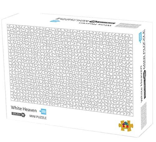 Herize Mini Puzzle 1000 Teile für Erwachsene, Weißer Himmel Puzzle für Kinder, Kinderpuzzle Spiele ab 8 Jahren, Spielzeug für Mädchen Jungen Teenager, Geschenke für Männer Frauen Mama Papa,42*29.7CM.