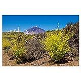 artboxONE Poster 30x20 cm Natur Der Vulkan Teide auf