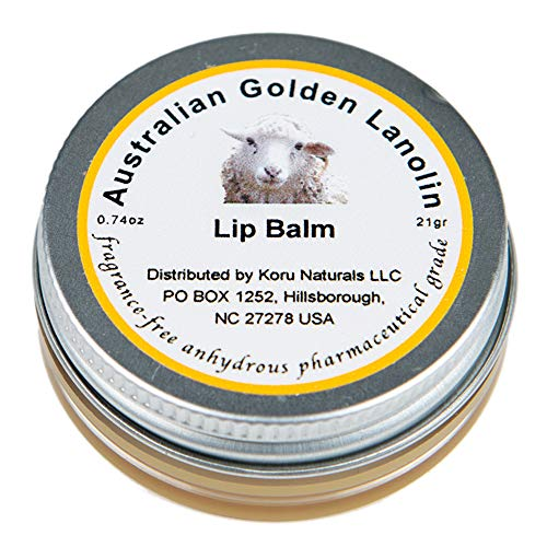 Pure Lanolin USP and EP Lip Balm Hydrating and Nourishing for Extremely Dry Lips