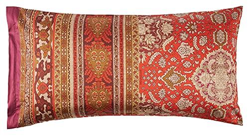 Bassetti Piazza San Marco R1 Rosso 9314291 - Funda de cojín (100% algodón, con Cremallera, 80 x 40 cm)