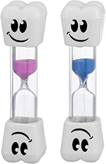 Smile Tooth 2 Minute Sand Timer Assorted colors (2 Pack)