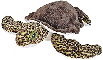 "Wild Republic Green Sea Turtle, Stuffed Animal, Plush Toy, Gifts for Kids, Cuddlekins, 20"" (21653)"