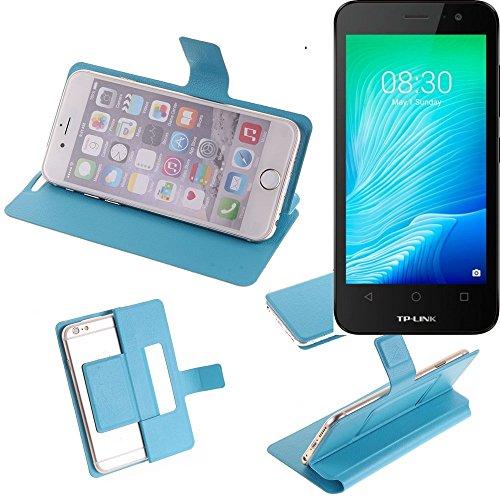 K-S-Trade Flipcover für TP-LINK Neffos Y50 Schutz Hülle Schutzhülle Flip Cover Handy case Smartphone Handyhülle blau