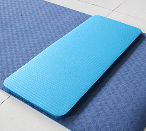 Charm4you Super Morbido Pilates Tappetino per Yoga NBR Abdominal Wheel Pads Flat Support Elbow Pads Yoga Auxiliary Pads Beginners-Blue_60 * 25 * 1.5CM Tappetino per Pilates Yoga Combinazione