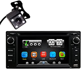 2Din in Dash Car DVD MP3 MP4 Video Player Radio Bluetooth Kit Universal Head Unit Stereos with Reverse Camera for Toyota Corolla EX Rav4 Prado Camry VIOS Echo Land Cruiser by HitCar (Without GPS)