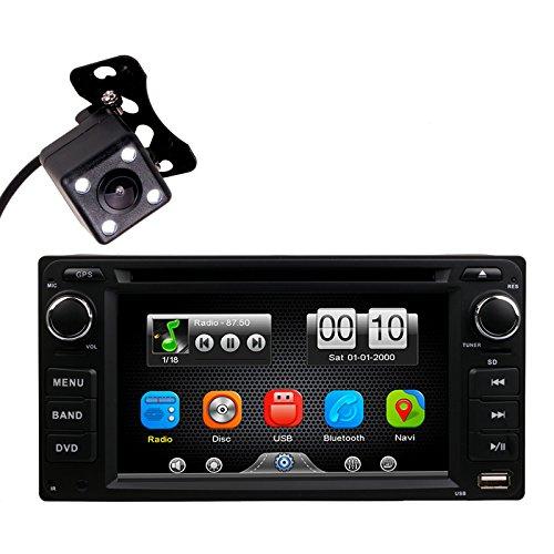 HitCar DVD-Player, MP3, MP4, Radio, Bluetooth, 2 DIN, Universal-Head-Einheit, Stereos mit Rückfahrkamera für Toyota Corolla EX Rav4 Prado Camry VIOS Echo Land Cruiser von HitCar (ohne GPS)