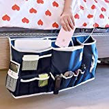 Bedside Caddy Organizer, Large Bed Hanging Storage Organizer Holder, Under Couch Table Mattress, 14 Pockets, Two Easy Ways of Installation, Perfect for College Dorm Room