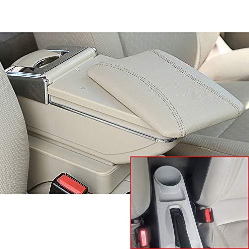 Muchkey Voiture Accoudoir Box Housse Accoudoir Console Centrale Cuir PU Accessoires de décoration d'intérieur Beige