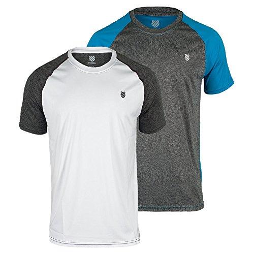 K-Swiss Hombres Hiper Corte Camiseta, Hombre, Color Gris - Gris, tamaño Small