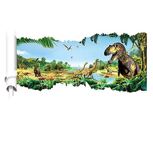"Ryuan Dinosaur Wall Decor Sticker Children's Wall Decal Decorative(35""*20"")"