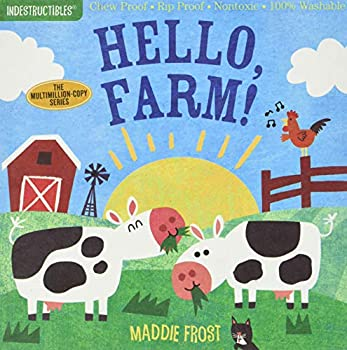 Indestructibles  Hello Farm!  Chew Proof · Rip Proof · Nontoxic · 100% Washable  Book for Babies Newborn Books Safe to Chew