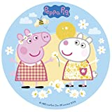 Peppa Pig Disque en Sucre 16 cm Peppa Pig sans Gluten sans Colorants Azoïques 15 g