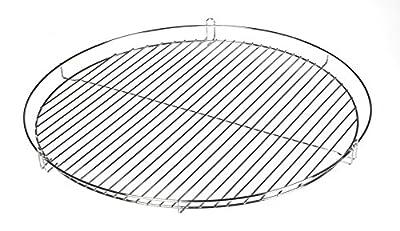 50cm Chrom Grillrost Grill Rost Grillgitter rund von HeRo24 (R)