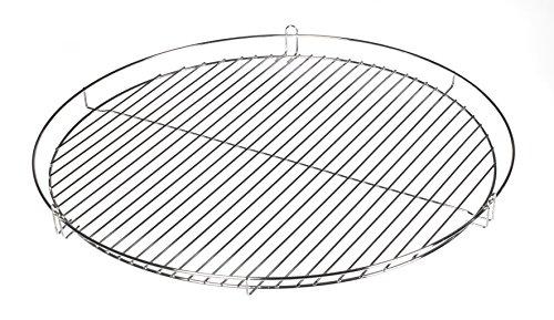 HeRo24 Chrom Grillrost Grill Rost Grillgitter rund, zum Aufhängen, Dreibein, Schwenkgrill (50 cm)