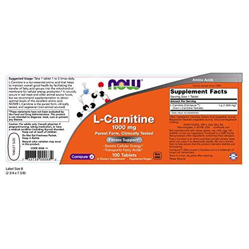 『L-カルニチン(1000mg) 100錠 海外直送品』の1枚目の画像