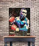 N / A ALEC Monopolys Boxen Mike Tyson Abstrakte Wandkunst