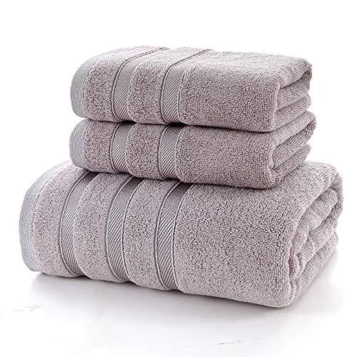 XYFL 2-teilige Bambushandtücher Handtücher Für Badetuch-Sets (140cmx70cm), 420 Gramm,Grey