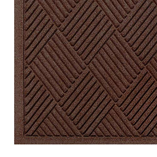 M+A Matting - 221520023 WaterHog Fashion Diamond-Pattern Commercial Grade Entrance Mat, Indoor/Outdoor Medium Brown Floor Mat 3' Length x 2' Width, Dark Brown by