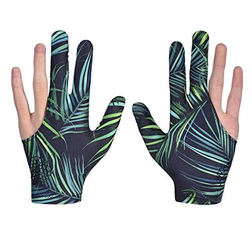 XLKJ 1 Paar Billardhandschuhe Unisex Queuehandschuhe 3 Finger Snooker Handschuh für Billard Zubehör