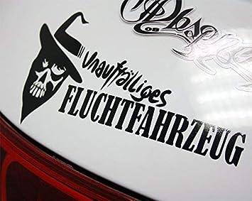 Dub Spencer Fluchtwagen Fluchtfahrzeug Sticker Bomb Aufkleber Decal Dub Weiß Innenklebend Auto