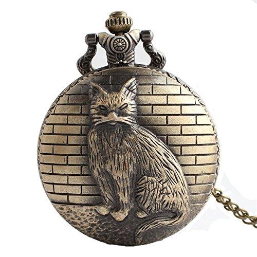 HR Orologio da regalo di Natale da uomo con orologio da tasca vintage al quarzo da uomo creativo con catena