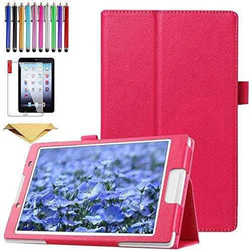 SsHhUu Funda para Galaxy Tab A 9.7 SM-T550, Cubierta Protectora de PU Cuero Soporte con Protector de Pantalla para Samsung Galaxy Tab A 9.7 2015, SM-T550 / T551, Rosa