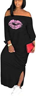 Best t shirt maxi dress with side slits Reviews