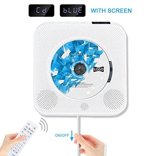 professional Wall-mounted Bluetooth CD player, Jimwey portable music CD player built-in hi-fi speaker …