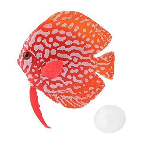 HEEPDD Aquarium-Simulations-Fisch-Dekoration, Aquarium-Tropische gefälschte Fisch-Verzierungs-lustiger künstlicher leuchtender Fisch für Haushalt und Büro-Aquarium(01#)
