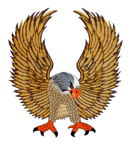Adler Eagle Backpatch Rückenaufnäher XXL ca. 25 x 28 cm