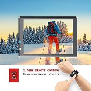Victure AC700 Cámara Deportiva 4K Wi-Fi 20MP (Cámara de Accion Acuatica de 40M con Control Remoto y Micrófono Externo Funciones EIS Anti-Vibración y Slow Motion)